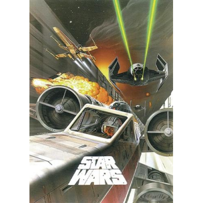 Poster - Battle in Death Star Canal - STAR WARS