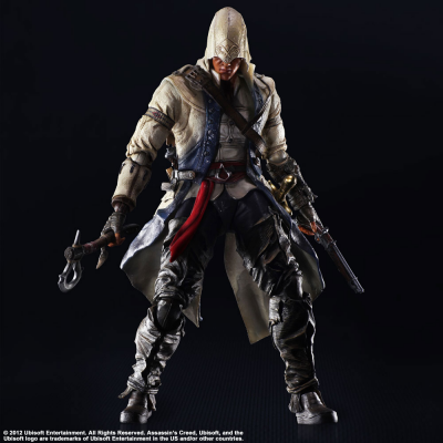 Play Arts Kai Actionfigur - Connor Kenway 28 cm - Assassins Creed III