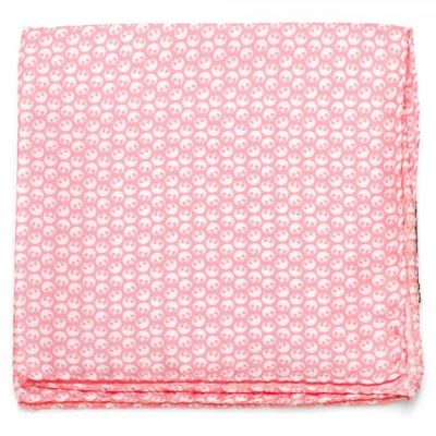 Pocket Square - Rebel, pink and white - STAR WARS