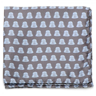 Pocket Square -  Darth Vader, grey and light blue - STAR...