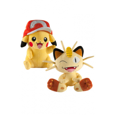 Pokemon Plush Figure 25 cm - Pikachu or Meowth