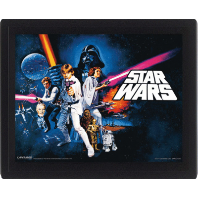 3D Effect Poster - A New Hope 26 x 20 cm - STAR WARS