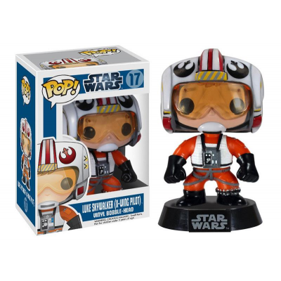 POP! Vinyl Wackelkopf-Figur - Luke Skywalker (X-Wing Pilot) 9 cm - STAR WARS