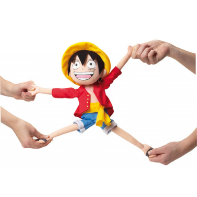 Elastic Plush Figure Luffy 35 cm - One Piece