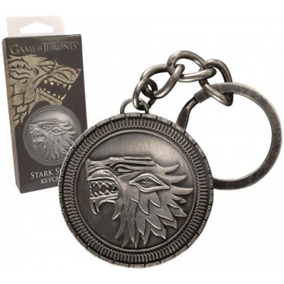 Game of Thrones Metal Keychain Stark Shield