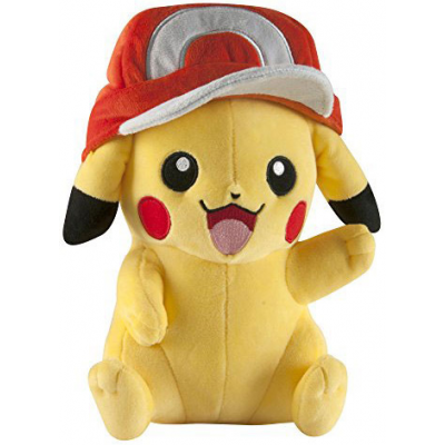Pokemon Plush Figure Pikachu with Ash Cap 26 cm
