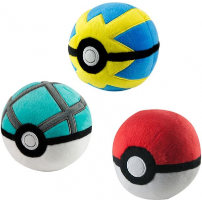 Pokemon Plush Pokeballs 7 cm D3