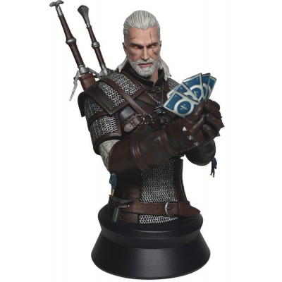 Witcher 3 Wild Hunt Büste Geralt Playing Gwent 23 cm