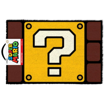 Super Mario Doormat Question Mark Block 40 x 60 cm