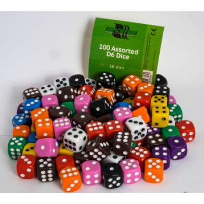 Blackfire Dice - Assorted D6 Dice 16 mm
