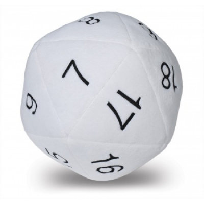 UP - Dice - Jumbo D20 Novelty Dice Plush in White with...