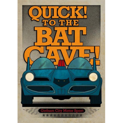 DC Comics Metal Poster Gotham City Motor Club Batmobile...