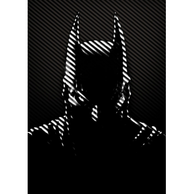 DC Comics Metal Poster Batman Noir Caped Crusader 10 x 14 cm