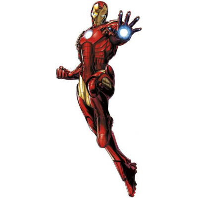 Marvel Comics Giant Vinyl Wall Decal Set Iron Man