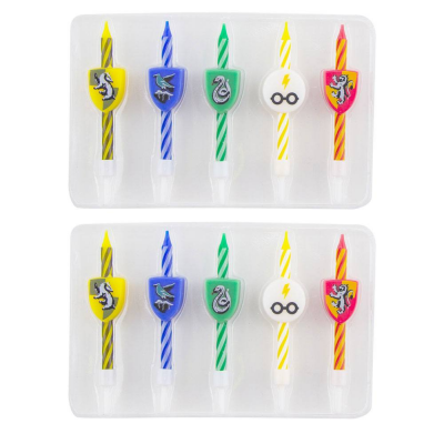 Harry Potter Birthday Candle 10-Pack Logos