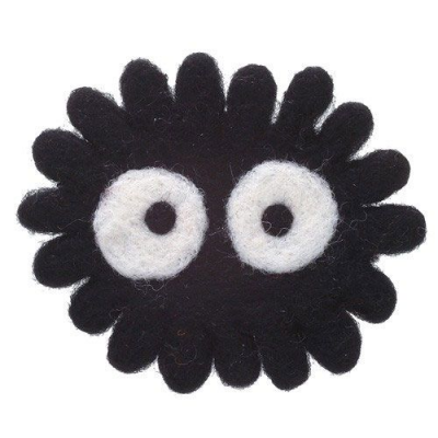 My Neighbor Totoro Woolen Coaster Soot Sprite