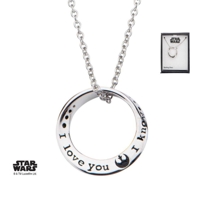 Star Wars Necklace I love you. I know 46 cm (Sterling...