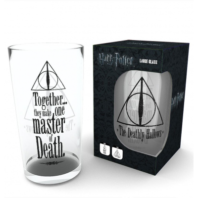 Harry Potter Pint Glass Deathly Hallows