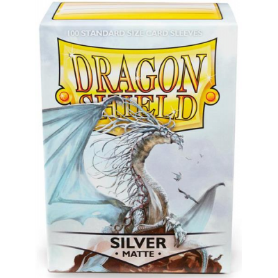 Dragon Shield Standard Sleeves - Matte Silver (100 Sleeves)