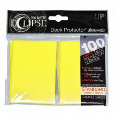 UP - Standard Sleeves - PRO-Matte Eclipse - Lemon Yellow...
