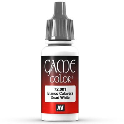 Vallejo Game Color: 001 Dead White, 17 ml