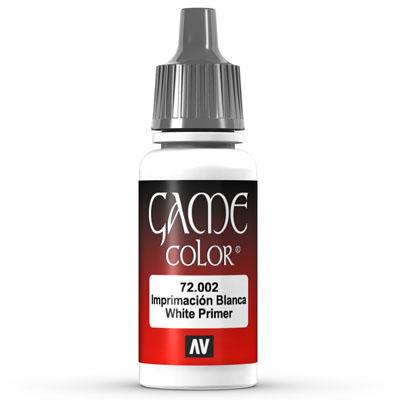Vallejo Game Color: 002 White Primer, 17 ml