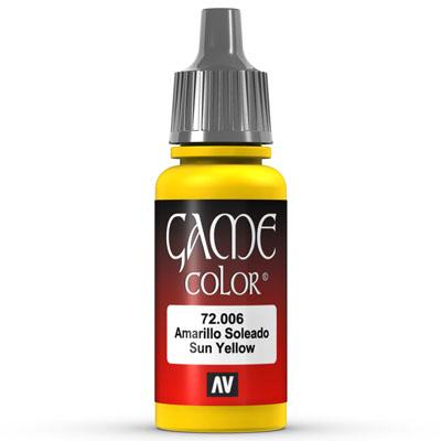 Vallejo Game Color: 006 Sun Yellow, 17 ml