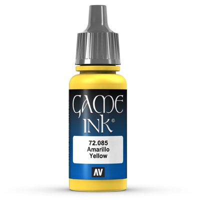 Vallejo Game Color Ink: 085 Ink Yellow, 17 ml