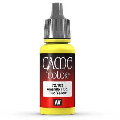 Vallejo Game Color: 103 Fluo Yellow, 17 ml