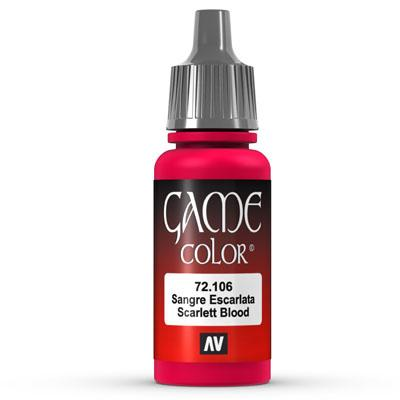 Vallejo Game Color: 106 Scarlett Blood 17 ml