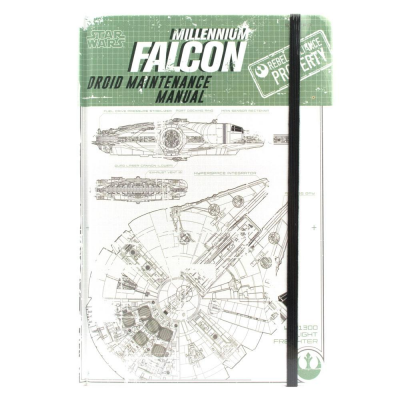 Star Wars Rogue One A5 Notebook Millennium Falcon Droid...