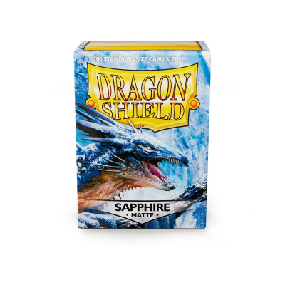 Dragon Shield Standard Sleeves - Matte Sapphire (100 Sleeves)