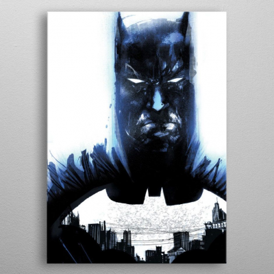 DC Comics Metal Poster Batman Light Absorption Heart of...