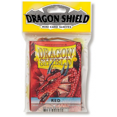 Dragon Shield Small Sleeves - Red (50 Sleeves)
