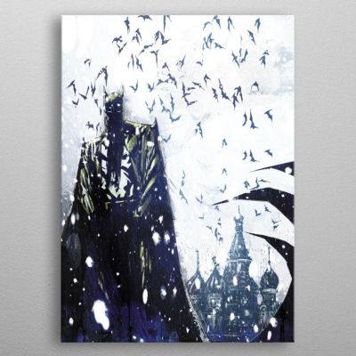 DC Comics Metal Poster Batman Light Absorption Bat Master...