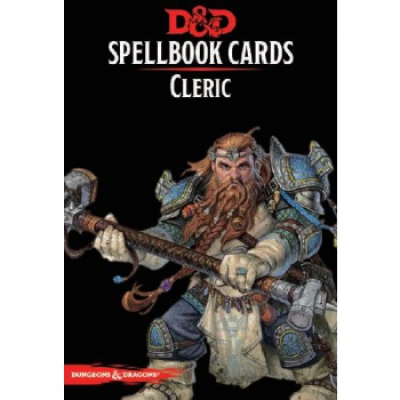 D&D Spellbook Cards - Cleric (153 Cards), English