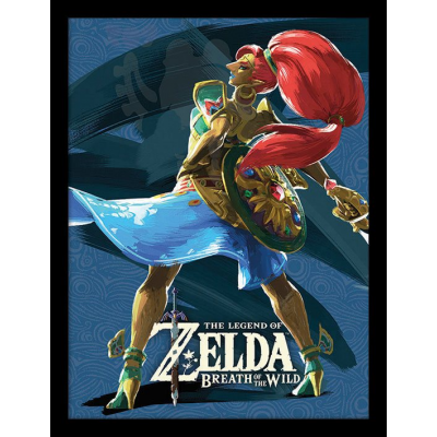 Legend of Zelda Breath of the Wild Poster im Rahmen...