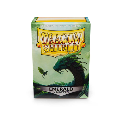 Dragon Shield Standard Sleeves - Matte Emerald (100 Sleeves)