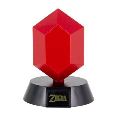 The Legend of Zelda 3D Icon Lampe Red Rupee 10 cm