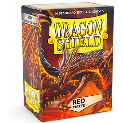 Dragon Shield Standard Sleeves - Matte Red (100 Sleeves)