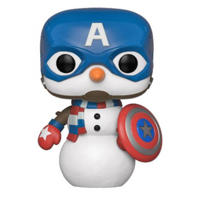 Marvel Holiday POP! Marvel Vinyl Figure Captain America 9 cm