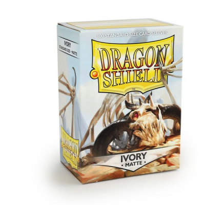 Dragon Shield Standard Sleeves - Matte Ivory (100 Sleeves)