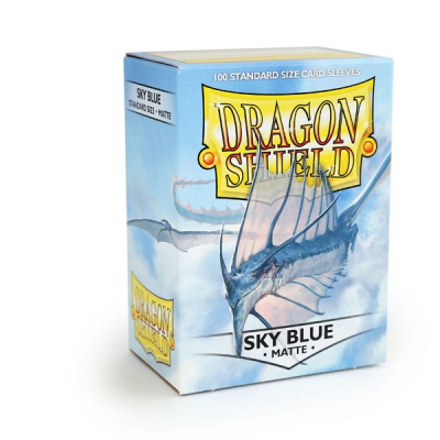 Dragon Shield Standard Sleeves - Matte Sky Blue (100 Sleeves)