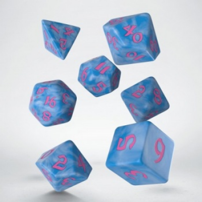 Classic Runic Glacier & pink Dice Set (7)
