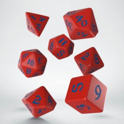 Classic Runic Red & blue Dice Set (7)