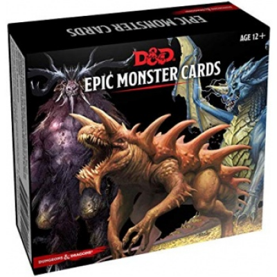 D&D Monster Cards - Epic Monsters (77 cards), English
