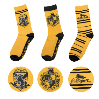 Harry Potter Socken 3er-Pack Hufflepuff