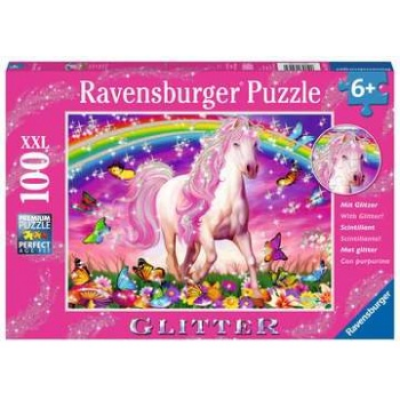 Puzzle - Pferdetraum 100 pieces XXL, with glitter