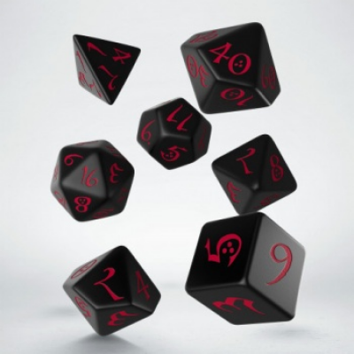 Classic RPG Black & red Dice Set (7)
