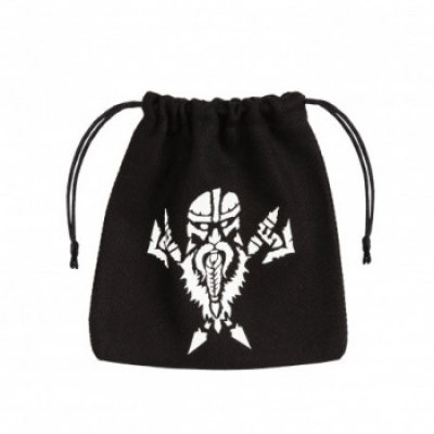 Dwarven Black & white Dice Bag